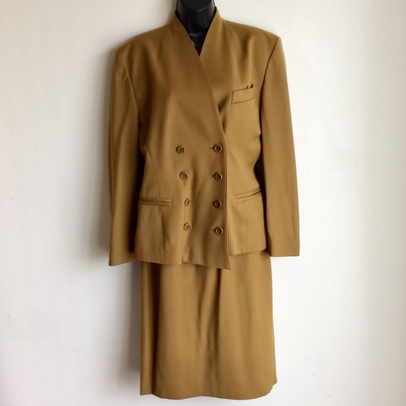 Escada Jackets & Blazers - ESCADA Suit Wool Camel Jacket and Skirt Size 38